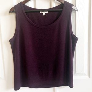 St John Sport Wool Blend Purple Tank Size Medium